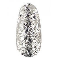 Гель лак Kodi № 40 SH (Белое серебро, брокат и глиттер), 8 мл