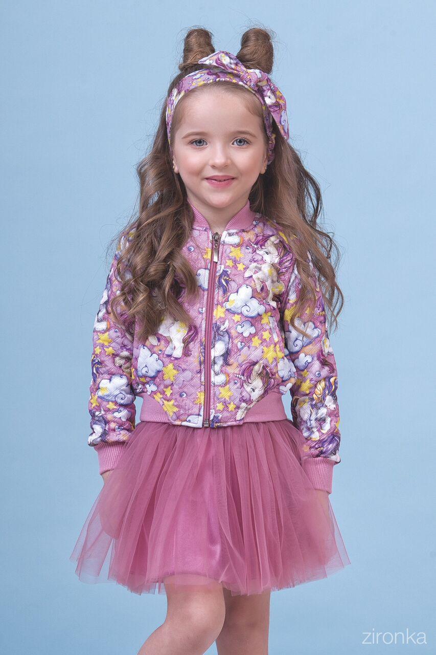 Комплект бомбер и юбка-для девочки Пони 8001-2 (р.98)