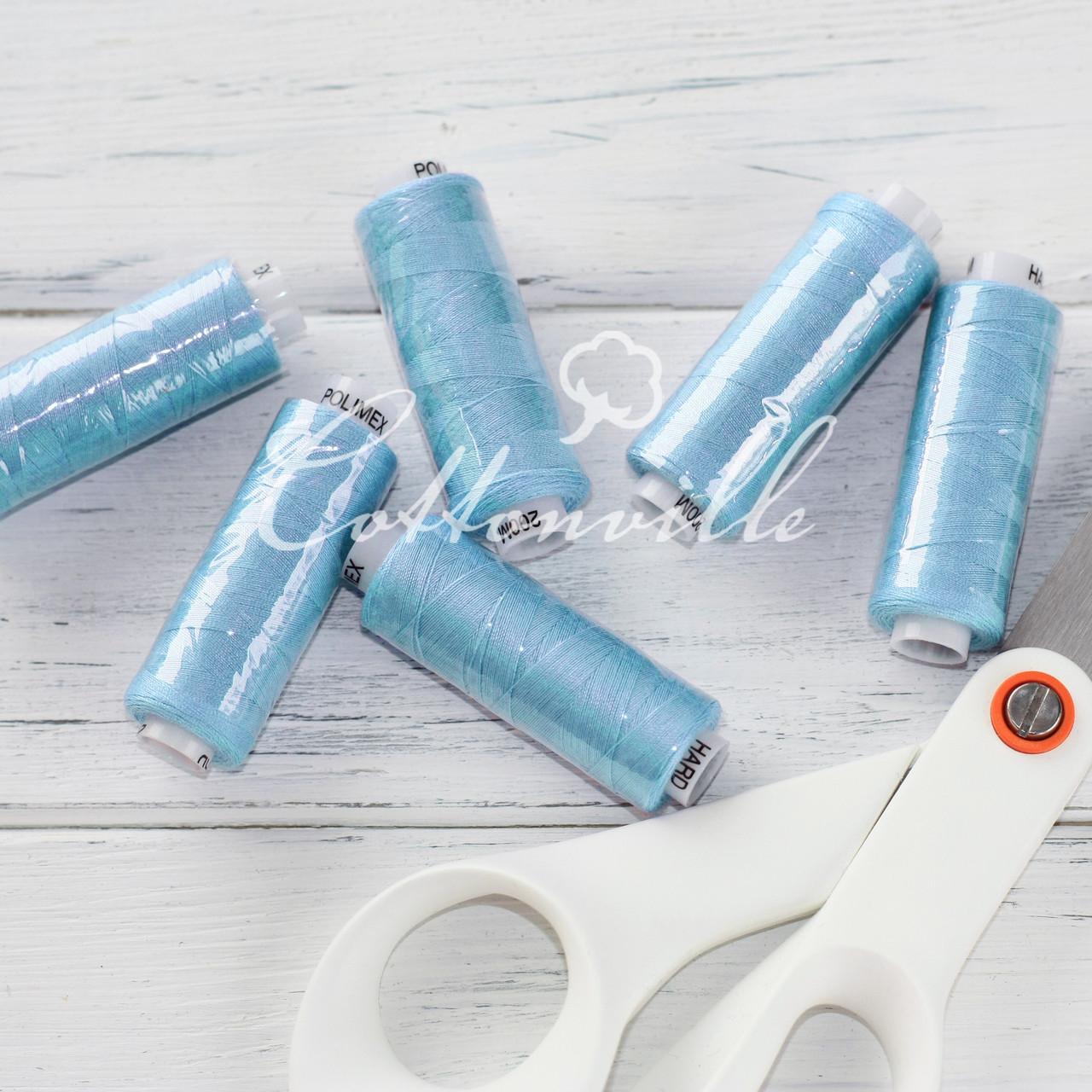 Нитки швейные 40s/2 (200 м) цвет темно-голубой