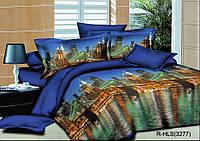 Полуторный комплект постельного белья 145х215 из ранфорса Вечерний  город (1.0) (70х70)