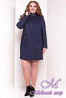 Весеннее женское пальто большого размера (р. XL, XXL, XXXL) арт. Сплит Донна 3290 - 18081