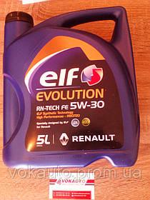Масло EVOLUTION RN TECH FE 5W30 5L (ШТ) (Для автомобилей с сажевым фильтром)