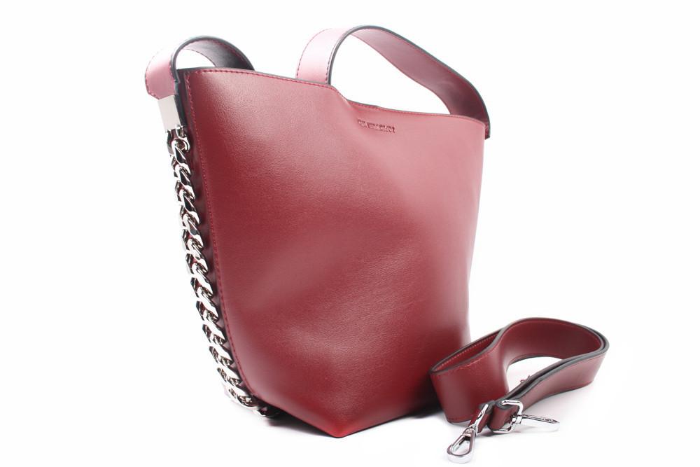 Сумка женская Givenchy с косметичкой, эко-кожа, цвет бордо, средний размер