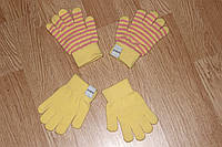 Демисеззонные детские перчатки Желтые 1 - 12 лет