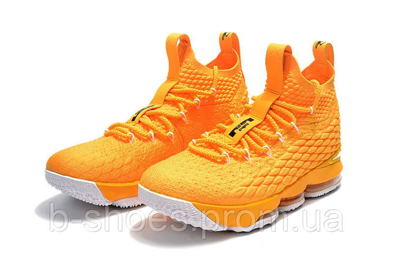Детские баскетбольные кроссовки Nike LeBron 15 (yellow)