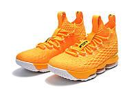 Детские баскетбольные кроссовки Nike LeBron 15 (yellow), фото 1