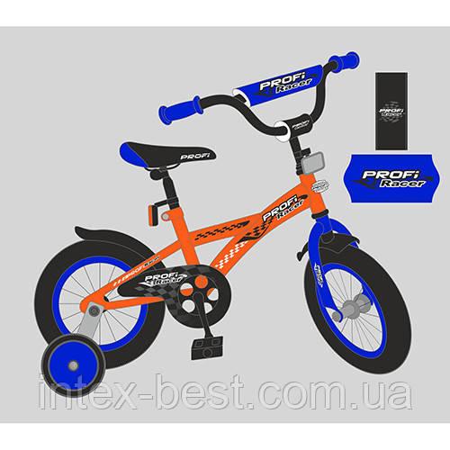 """Двухколесный детский велосипед PROFI Racer 16"""" Оранжевый (T1635)"""