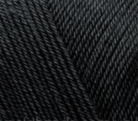 Летняя стрейчевая пряжа Alize Diva Stretch 60 черный