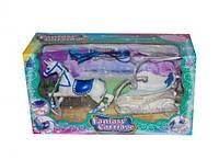 Каретка с лошадкой (синее седло)(музыка, свет) ( коробка) SМ3005 р.37*22*14 см