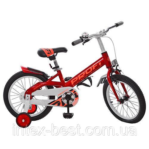 """Двухколесный велосипед PROFI 16"""" Красный (W16115-1) со звонком"""