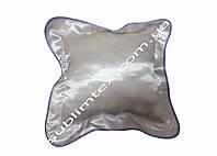 Подушка атласная,искусственный наполнитель,метод печати сублимация,размер 35х35см,цвет Каймы голубой