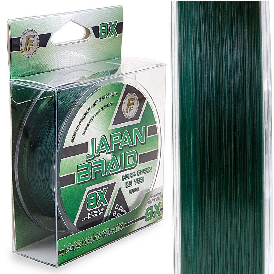 Шнур Lineaeffe FF Japan Braid 8X Moss Green  135м/150yds  0.08мм  FishTest-5.00кг