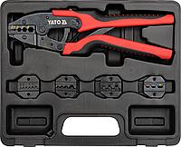 Клещи для обжима и зачистки проводов, набор 6 шт, YATO