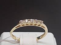Золотое кольцо с фианитами. Артикул 700069-ЕВРО 17,5, фото 1