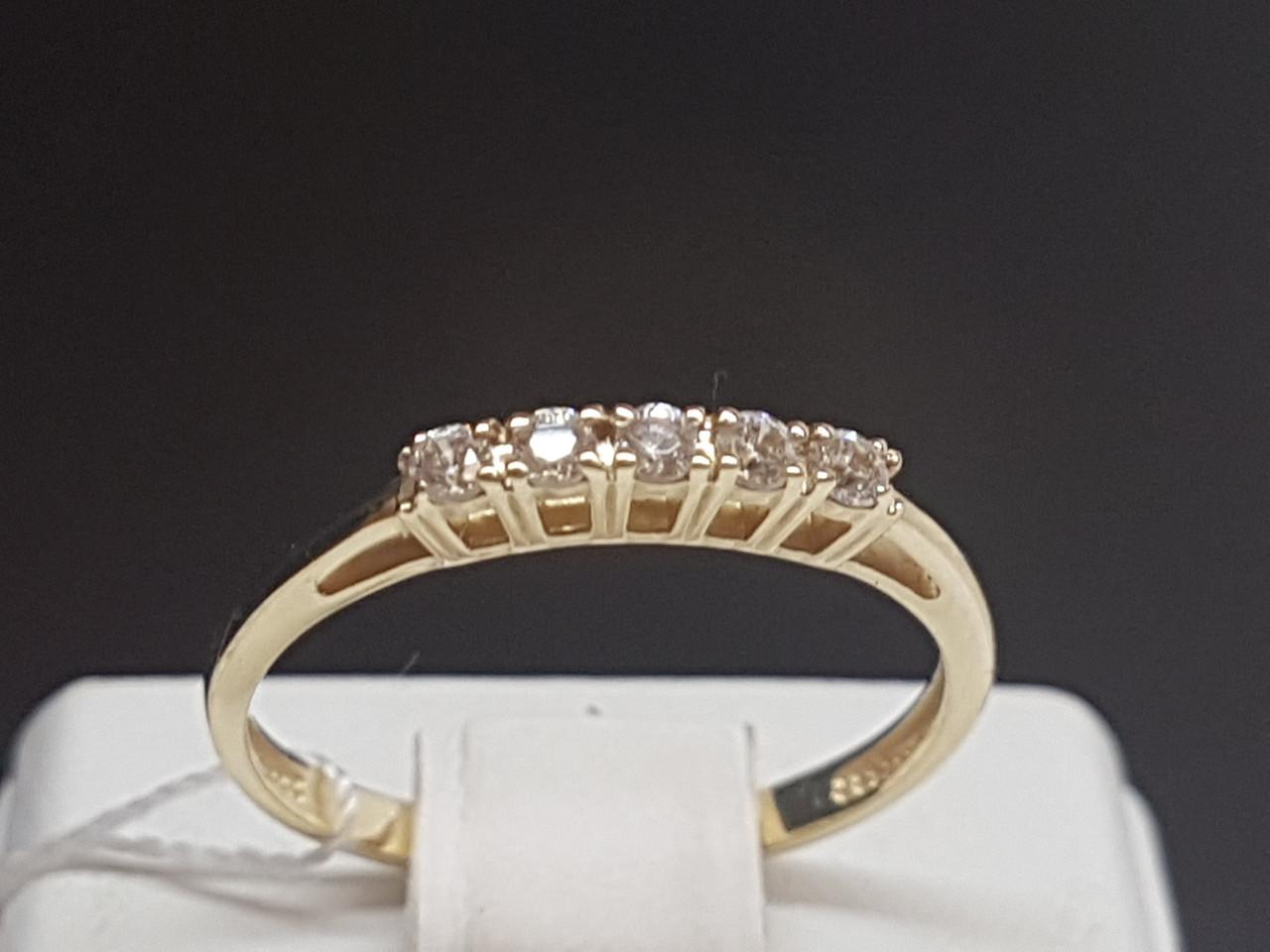 Золотое кольцо с фианитами. Артикул 700069-ЕВРО 17,5