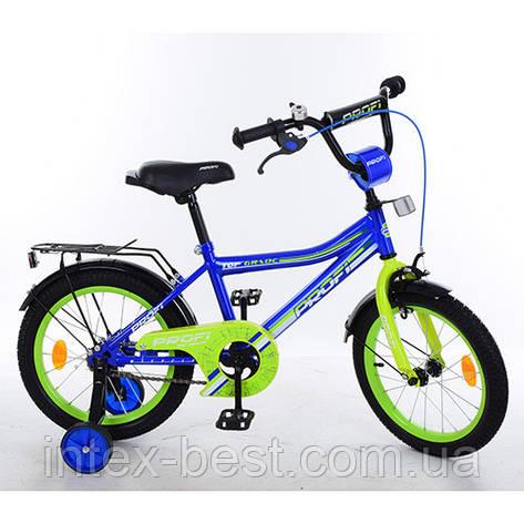 """Двухколесный велосипед PROFI Top Grade 16"""" Синий (Y16103), фото 2"""