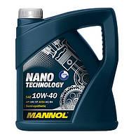 Моторное масло Mannol Nano Technology SAE 10W-40 A3/B4 4 л