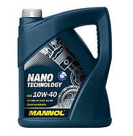 Моторное масло Mannol Nano Technology SAE 10W-40 A3/B4 5 л