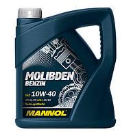 Моторное масло Mannol Molibden Benzin SAE 10W/40 A3/B3 4 л