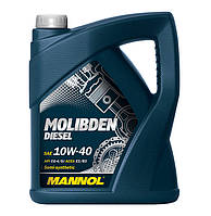 Моторное масло Mannol Molibden Diesel SAE 10W-40 A3/B3 5 л