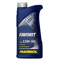 Моторное масло Mannol Favorit SAE 15W-50 A3/B3 1 л