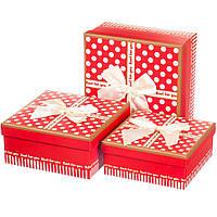"""Подарочные коробки """"Горошек"""" 3 размера"""