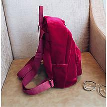 Рюкзак женский велюровый Adel Leopard красный eps-8064, фото 2