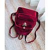 Рюкзак женский велюровый Adel Leopard красный eps-8064, фото 3