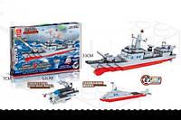 Конструктор JIE STAR 20101 военный корабль 2в1 549дет.кор.52*7*33 ш.к./18/