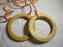 Кольца  большие детские гимнастические подвесные деревянные Эконом Богатырь