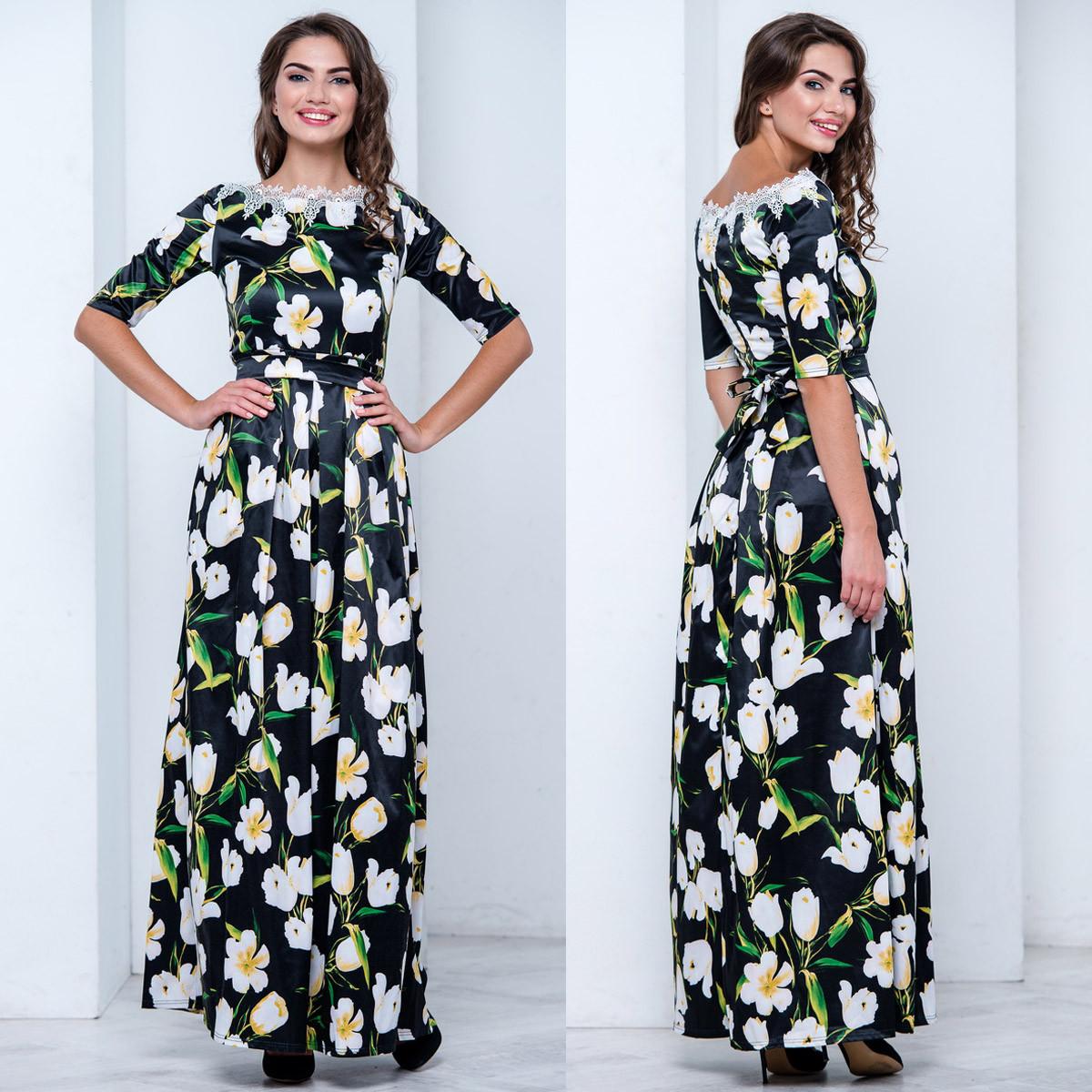 """Красивое нарядное платье с цветами """"Ксения"""""""