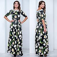 """Красивое нарядное платье с цветами """"Ксения"""", фото 1"""