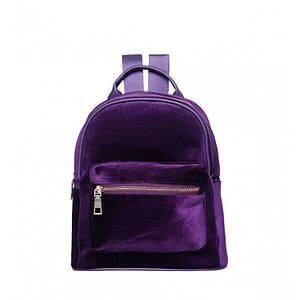 Рюкзак женский велюровый Adel, фиолетовый