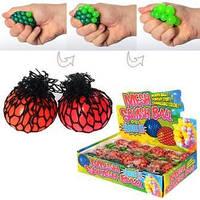 Игрушка антистресс, виноград, пузыри, в кульке, 5см, 24шт в дисплее