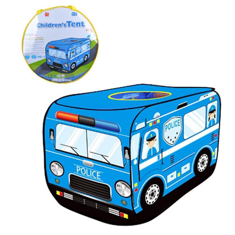 Палатка M 3753 автобус, полиция, 110-71-71см, 1вход-накидка, окно в крыше, в сумке, 40-40-5см