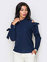 (XS, S, M, L, XL) Жіноча темно-синя блузка з прорізами Gabriella