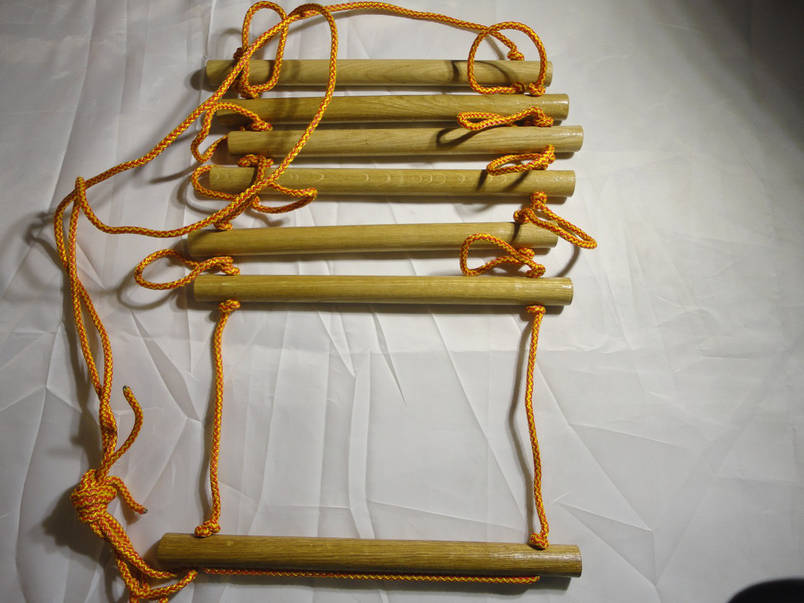 Детская верёвочная лестница для шведской стенки Премиум, фото 2