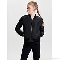 Куртка бомбер женская бренда Noisy may в черном и бордовом цвете