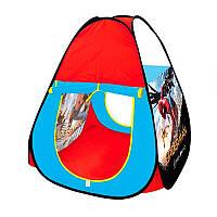 Палатка M 3739 Сп Спайдермен, пирамида, 67-67-90см, 1вход на липучке, 1стор-вход, в сумке, 33-33-3см
