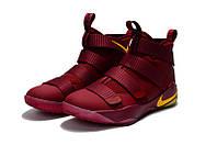Детские баскетбольные кроссовки Nike LeBron Soldier 11 (wine red/yellow), фото 1