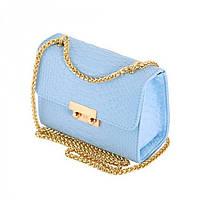 Небольшая женская сумочка голубого цвета Traum арт. 7211-64