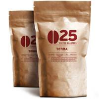 Кофе в зернах 25coffe roasters 1000г Terra (смесь сортов арабики+30% робусты. Послевкусие с ореховым