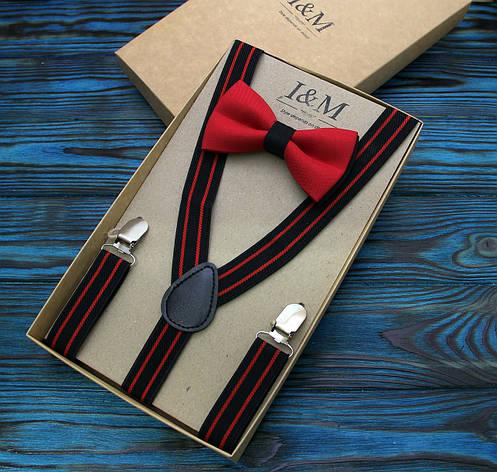 Набор I&M Craft галстук-бабочка и подтяжки для брюк (030235), фото 2