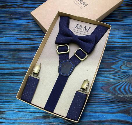 Набор I&M Craft галстук-бабочка и подтяжки для брюк (030226), фото 2