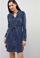 Джинсовое женское платье бренда Vero moda синего и черного цвета