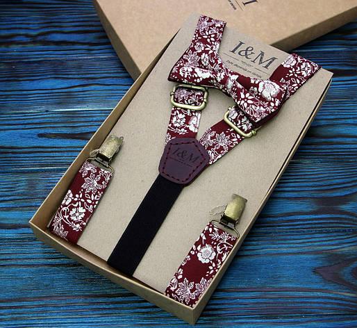 Набор I&M Craft галстук-бабочка и подтяжки для брюк (030219), фото 2