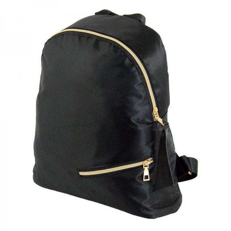 c94f329119f2 Легкий рюкзак из плотной атласной ткани черного цвета Traum арт. 7229-50 -  Интернет