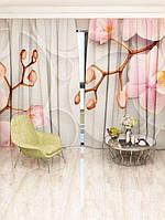 Фотоштора Розовая орхидея 142х270 2шт (25887_4_1)