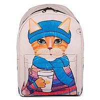 Молодежный оригинальный рюкзак Cool Cat (бежевый)