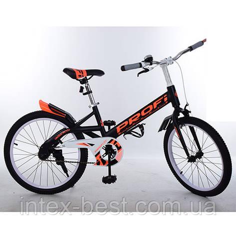 """Двухколесный велосипед PROFI Original 20"""" (W20115-4) Черный, фото 2"""